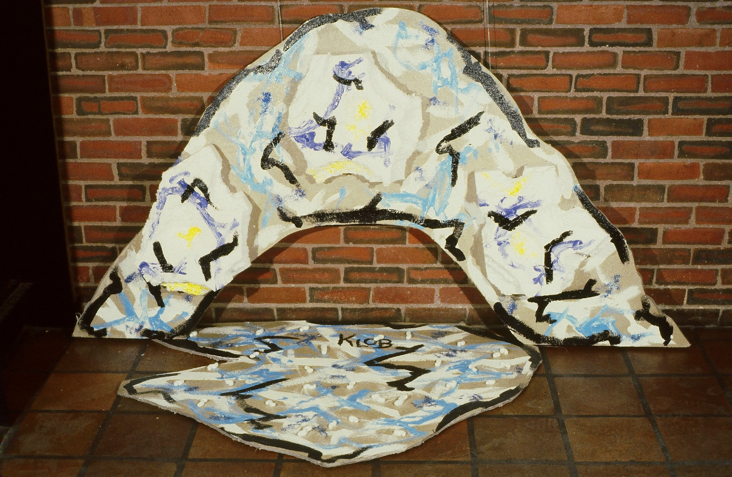 1979; Acrlic, homosote, Styrofoam; 4 ft 2 in X 6 ft 10 in